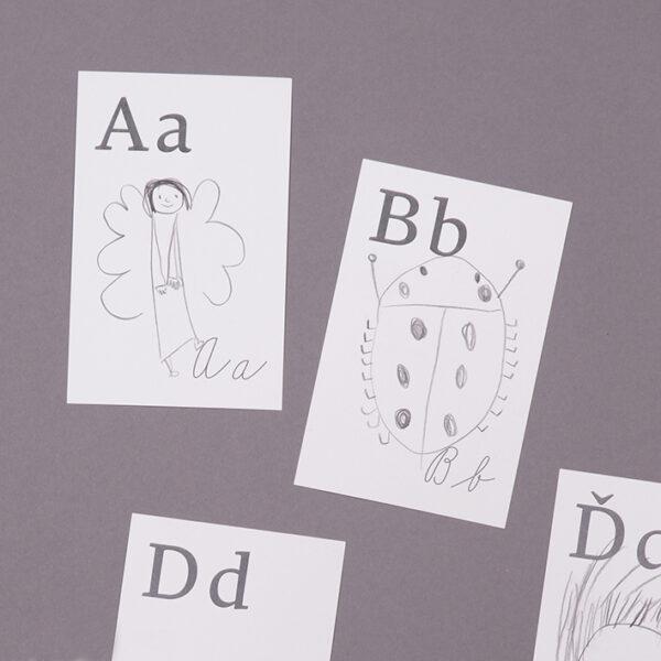 Nechte děti vytvořit si svojí vlastní abecedu - A jako anděl, B jako beruška.
