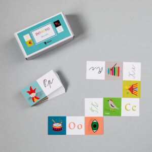 Krabička s kartičkami domina české abecedy