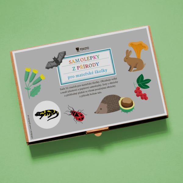 Krabička se sadou rozlišovacích značek pro mateřské školy - příroda kolem nás